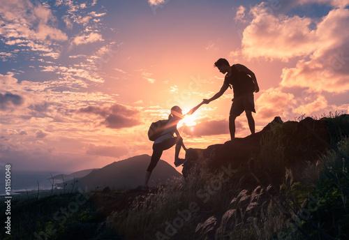 Team work, life goals and self improvement  concept фототапет