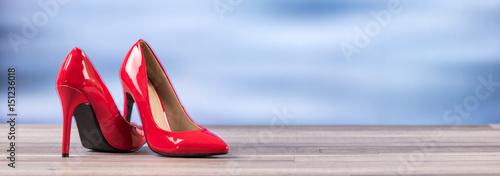 Fotografie, Obraz Red high heel shoe