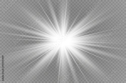 Obraz na płótnie Vector illustration of abstract flare light rays