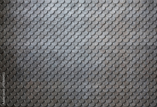 Fototapeta Rusty metal scales armor background 3d illustration