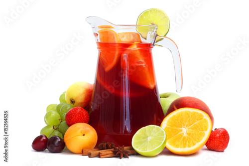 Fotografie, Obraz Sangria and fruits