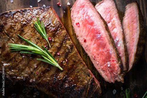 Photo Grilled beef steak