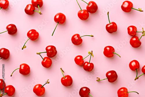 Cherry pattern Fototapet