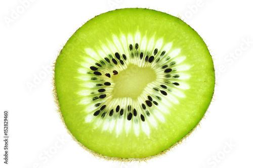 fresh slice kiwi fruit isolated on white background