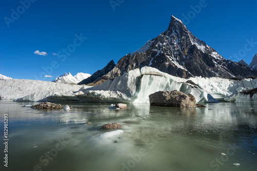 Mitre peak at Concordia camp, K2 trek, Skardu, Gilgit-Baltistan, Pakistan