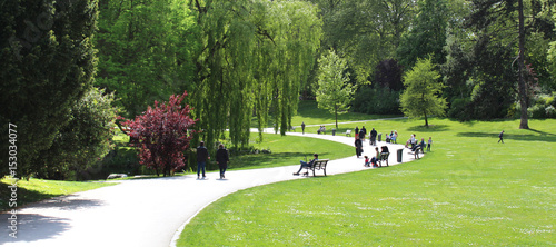 Obraz na plátně Roubaix (France) / Parc Barbieux