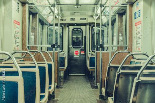 Obraz na płótnie Subway ride in Chicago