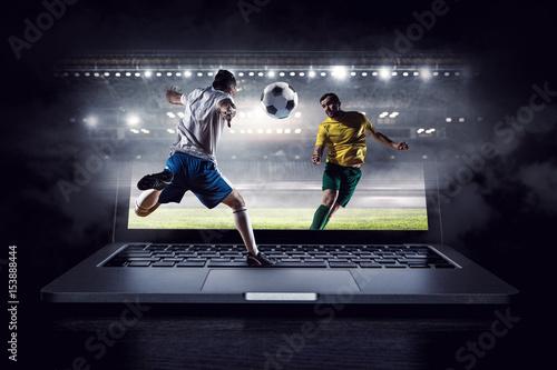 Football hottest moments . Mixed media Fotobehang