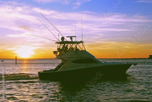 Fototapeta Sunset Fishing