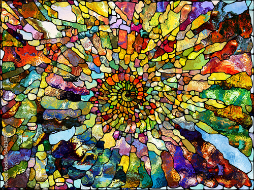 Canvas Print Realms of Leaded Glass