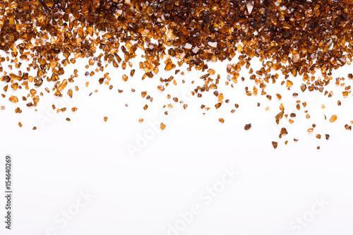 Brown Amber stones on white background Fototapete