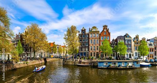 Fotografia Amsterdam, Holland: Spring sunny day in the city