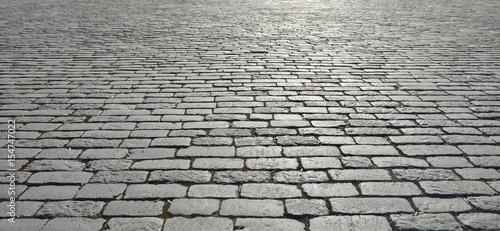 Fotografia, Obraz Old cobblestone pavement.