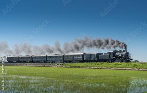 Fototapeta Vintage steam train