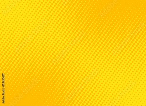 Obraz na płótnie retro comic yellow background raster gradient halftone, stock vector illustratio