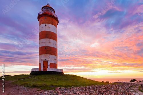 North lighthouse on Hogland. Island Hohland, Russia