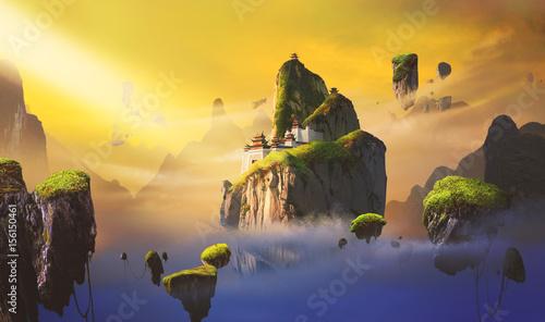 Chińskie sceny fantasy.