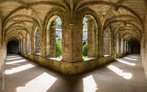 Canvas Print Santa Maria de Armenteira Monastery in Galicia