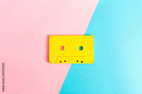 Fototapeta Retro cassette tapes on bright background