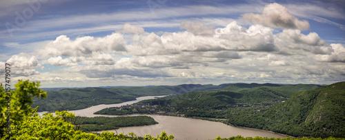 Fotografie, Obraz over looking hudson river