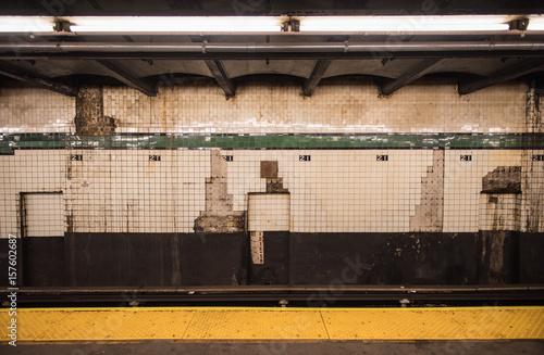 Dirty, grunge wall of New York subway