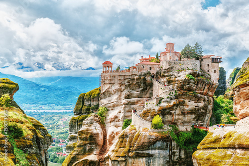 Canvas Print Monastery Meteora Greece.
