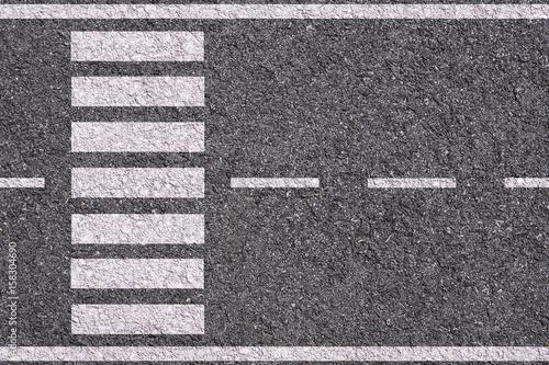 Fotografija white lines and crosswalk on asphalt background texture
