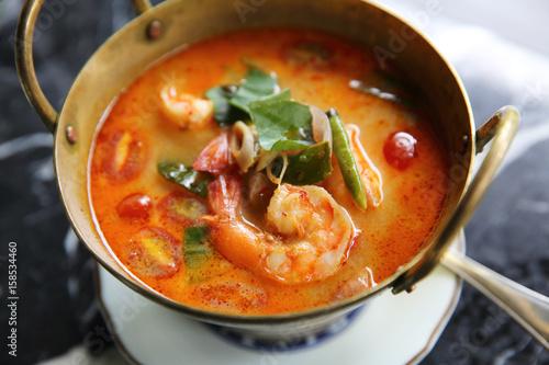 Shimp tom yum soup , Thai food