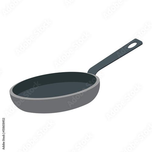 Fotografie, Obraz frying pan vector illustration