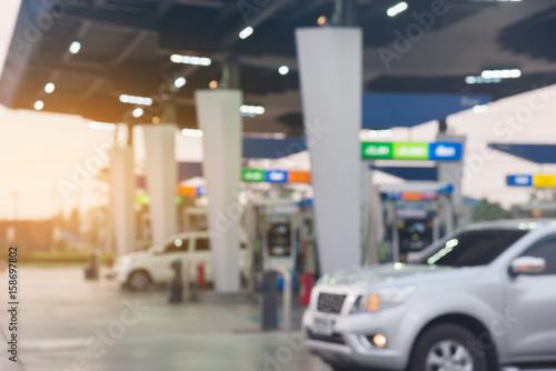 Obraz na płótnie gas station