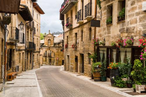 old streets of labastida town, located at la rioja. Spain