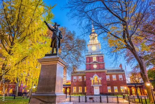 Fotografia Philadelphia, Pennsylvania, USA at Independence Hall.