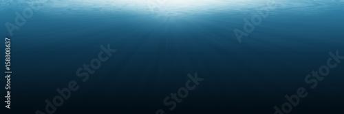 Stampa su Tela horizontal empty underwater for background and design