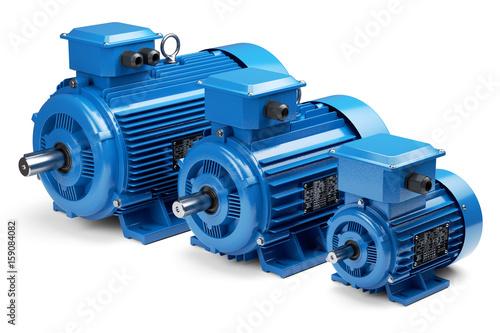 Obraz na plátne Three industrial electric motors