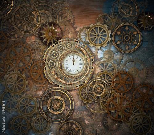 Fotografia Rusty steampunk background