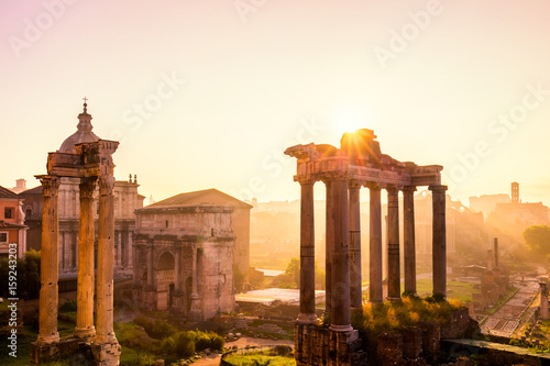 Vászonkép Roman Forum, Rome's historic center, Italy
