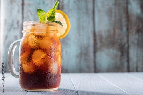 Stampa su Tela Cold brew coffee in mason jar