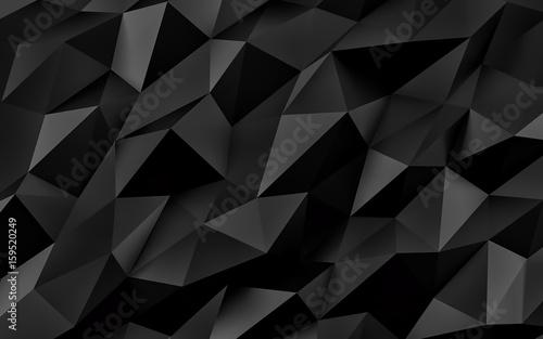 Fototapeta premium Abstrakcjonistyczny czarny geometryczny tło. Złota tekstura z cieniem. Renderowanie 3D