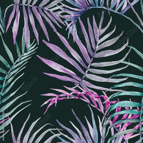 Fototapeta Akwarela wektor tropikalny kwiatowy wzór