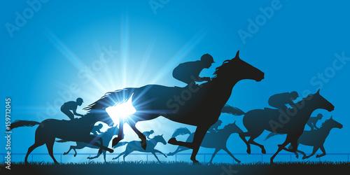 Fotografia cheval - cheval de course - course hippique - champ de course - jockey