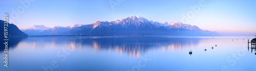 Photo Switzerland Landscape : Lake Geneva of Montreux at sunrise