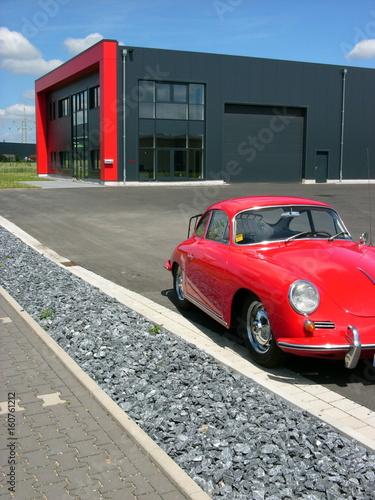Photo Roter deutscher Sportwagen Klassiker der Fünfzigerjahre und Sechzigerjahre auf e