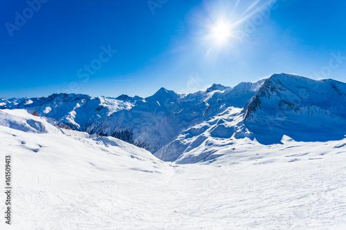 Ski slope scenery