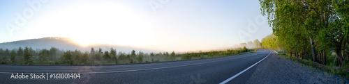 Photo morning road