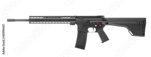 Fotografie, Obraz AR 15 Rifle Isolated on white background Left