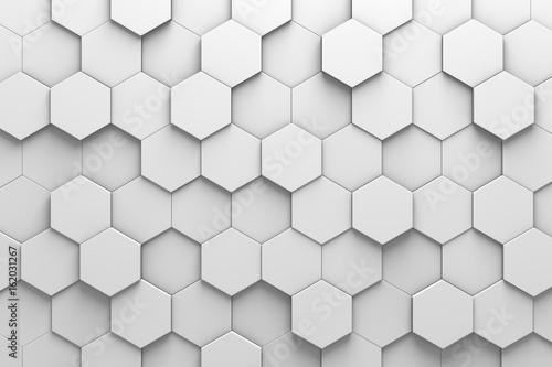 Hexagonal Tiles 3D Pattern Wall