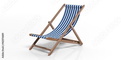 Stampa su Tela Beach chair on white background. 3d illustration