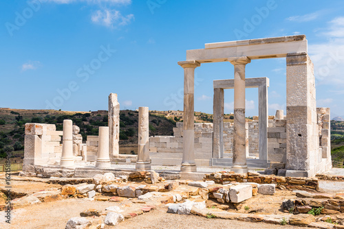 Canvas Print The Temple of Demeter located near the village of Sangri on Naxos Island