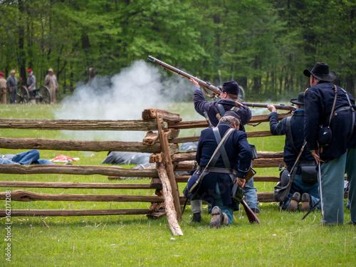 civil war reenactment Fototapete