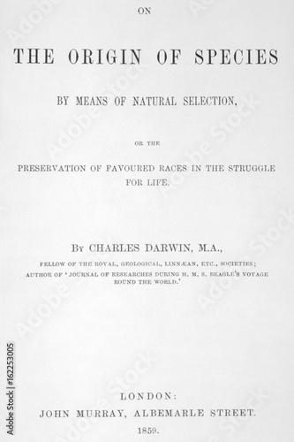 Slika na platnu On The Origin Of Species by Charles Darwin. Date: 1859